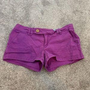 Purple roxy shorts